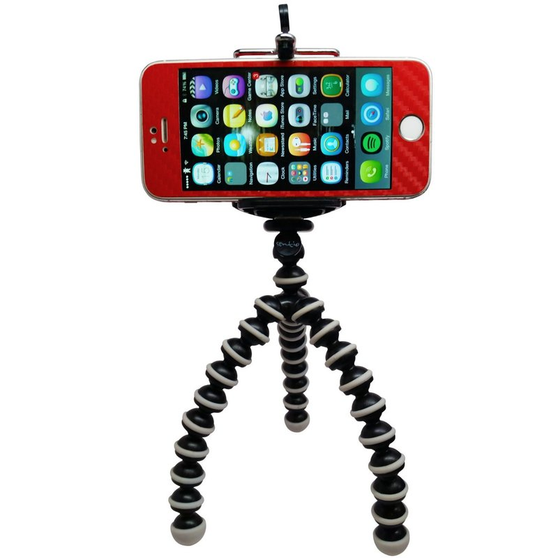 Jusun Mobile Phone Mini Tripod Stand Bluetooth Remote Control Monopod Tripod Mini Digital Camera Tripod Mobile Phone Desktop Stand Color : Only Silver