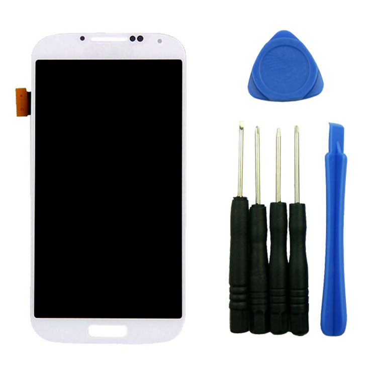 White Parts for Samsung Galaxy S4 i9500 i9505 i545 L720 R970 LCD Display Touch Screen Panel Glass Digitizer Assembly with tools