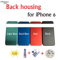 Chassis Back Housing Battery Cover Coque Fundas for iPhone 6 4.7 A1586 A1586 +LOGO&Buttons&Sim Tray+Sticker+Tool+Custom IMEI