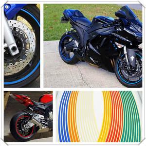 Motorcycle Rim Tape Reflective Wheel Stickers Decals Vinyl 1cm*5m Fashion #NA