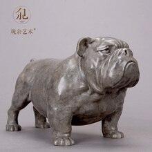 Creative bronze French Bulldog figurines home decor crafts room decoration vintage copper dog ornament animal statue gift