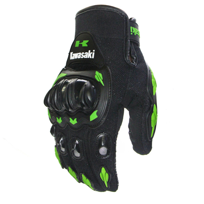 Kawasaki luvas da motocicleta motocross guantes moto motocicleta luvas ciclismo mountain bike luvas motocicleta dedo cheio