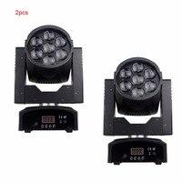 2pcs/Lot zoom function mini DJ equipment 7pcs 15W RGBW 4in1 LED moving head wash dmx stage light