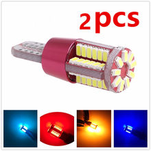 2 pçs t10 led canbus w5w 194 3014 57smd branco carro auto leds lâmpadas de leitura interior luzes da placa licença lâmpadas 12v estilo do carro