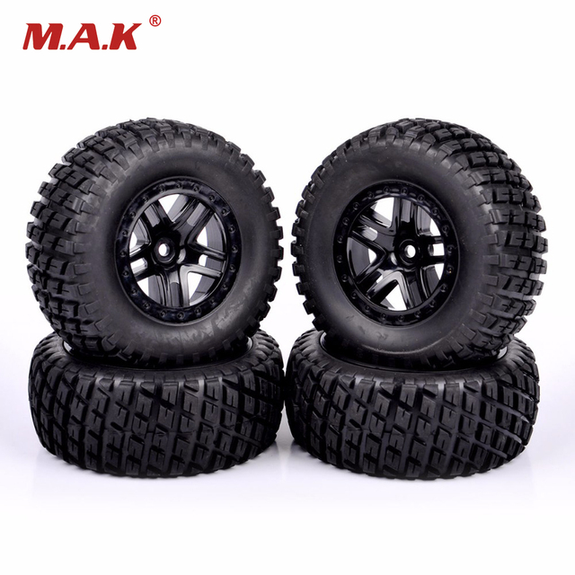 1/10 Scale Short Course Truck Tires And Wheel Rim  902 29001+29504 For TRAXXAS SLASH HPI RC Truck Car Model Toys  Accessories