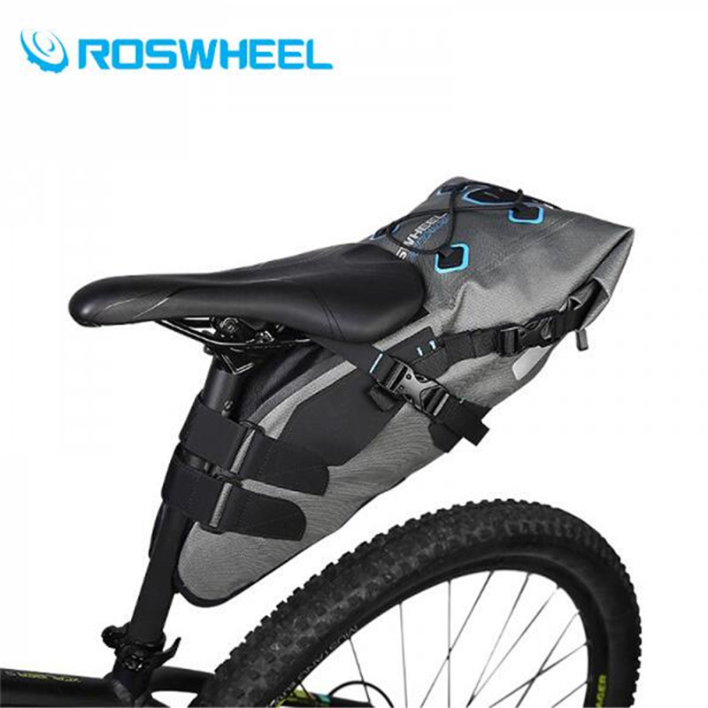 ROSWHEEL 7L Waterproof Bicycle Seatpost Bag Bike Saddle Seat Storage Pannier Cycling Mountain MTB Road Rear Pack High Quality wheel up bicycle rear seat trunk bag full waterproof big capacity 27l mtb road bike rear bag tail seat panniers cycling touring