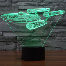 USB Led Lamp Star Wars Star Trek Enterprize 3D Night lights Creative Gifts Home Decor Baby Bedroom Led Table Lamp