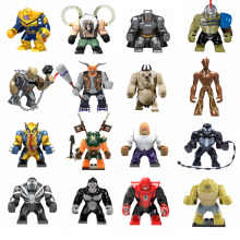 Legoing фигурка большой танос Железный человек Халк Бейн Бэтмен яд кульл обсидиан Супер Герои Фигурки игрушки для детей детские подарки