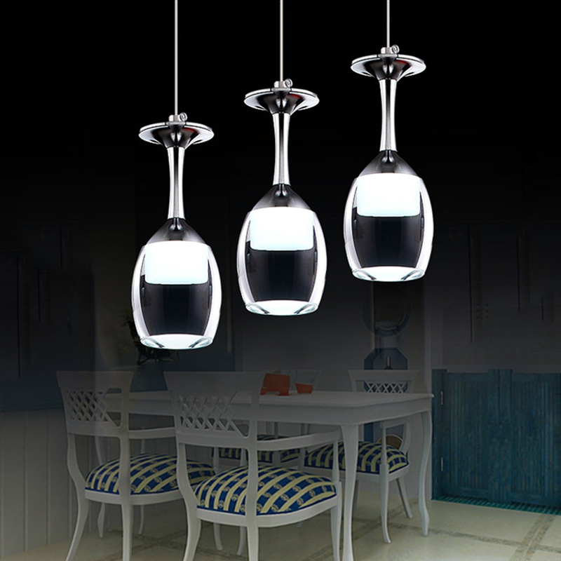 Elegant Art Deco Wine Glass Shade LED Mini Pendant Light Max 1-6 Lights  - Modern Pendant  Acrylic Shades (White) glass deco стеклянные настенные интерьерные часы glass deco r m5