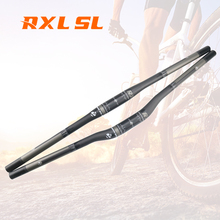 Bisiklet gidon MTB 31.8mm RXL SL bisiklet karbon gidon MTB 3K mat düz/yükseltici bisiklet gidon dağ karbon gidon