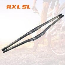 Guidon de vélo en fibre de carbone pour vtt 3K mat/Riser, 31.8mm RXL SL
