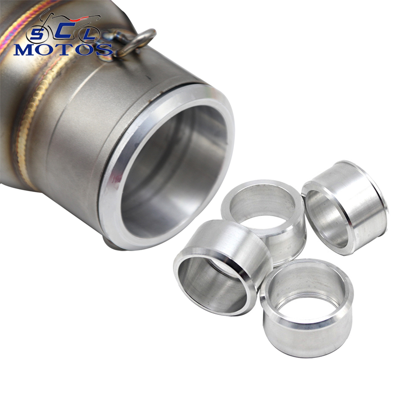 Sclmotos  60mm to 51mm Convertor Adapter Stainless Steel Motorcycle Exhaust Connector Motorbike Connecting Link Down Pipes Race|Exhaust & Exhaust Systems|   - title=