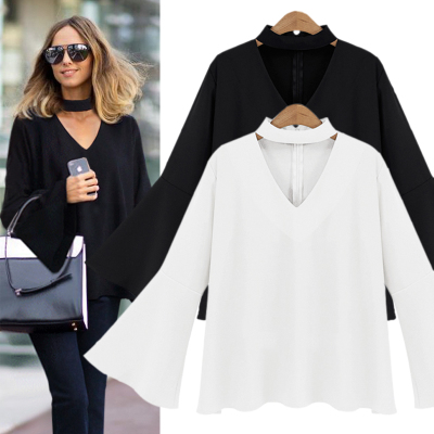 8d2fc08fe8c Women Chiffon Tops And Blouses Kimono Ladies Office Shirts Women's Flared  sleeve White Blouse Plus Size 5XL Blusas Camisas Mujer-in Blouses & Shirts  from ...