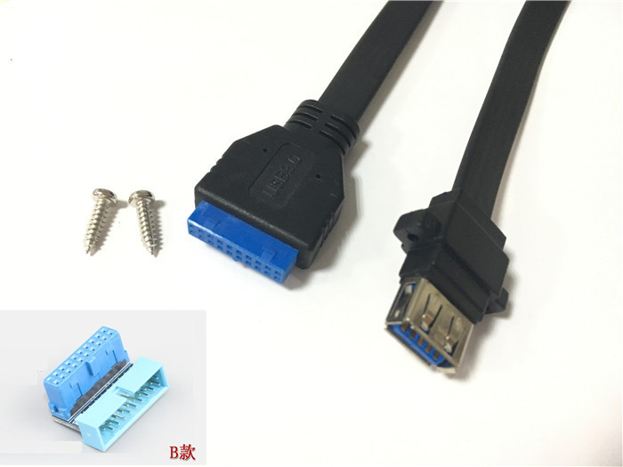 USB 3.0 19P 20P 19 pin 20 pin USB3.0 male socket 90 degree motherboard chassis front seat expansion connector and bracket cable usb 3 0 19p 20p 19 pin 20 pin usb3 0 male socket 90 degree motherboard chassis front seat expansion connector and bracket cable