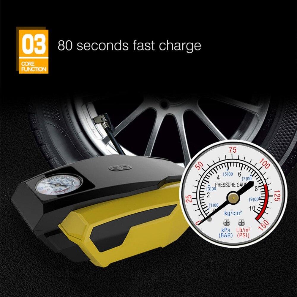 2018 Portable 12 v Pneu De Voiture Gonfleur Pompe Intelligente D'urgence Compresseur D'air Avec LED Lumière pour Voiture Camion Basket