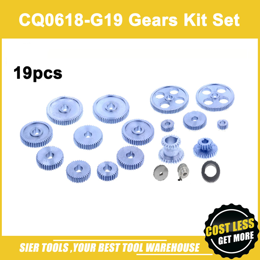 Free Shipping CQ0618 G19 Metal Gears 19pcs Metal Gear Kit Metric 0618 gears