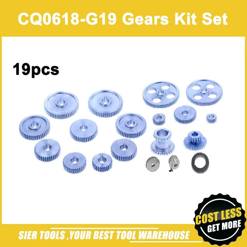 Livraison gratuite!/engrenages en métal CQ0618-G19/Kit de engrenages en métal 19 pièces (métrique)/engrenages 0618