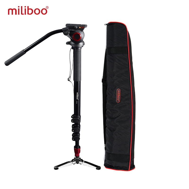 miliboo MTT705A Aluminum Portable Fluid Head Camera Monopod for Camcorder /DSLR Stand Professional Video Tripod 72Max Height miliboo mtt705a professional aluminum portable camera tripod without hydraulic head monopod dslr stand free shipping