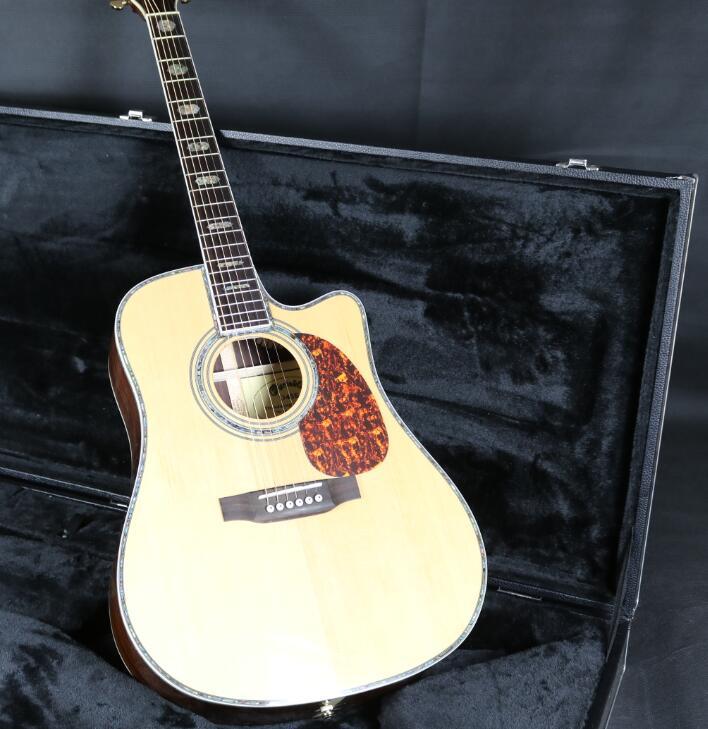 41 ''D45CA Cutway guitare acoustique électrique Fishman EQ table en épicéa massif manche en acajou accordeur Grover