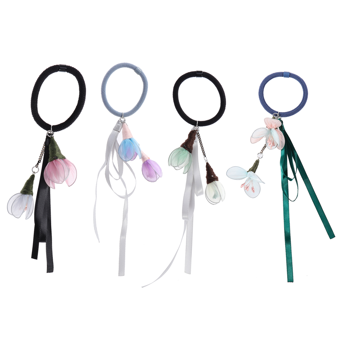 Women Elastic Hair Bands Hair Accessories Ponytail Holders Girls Flower Hair Rope Tie Band