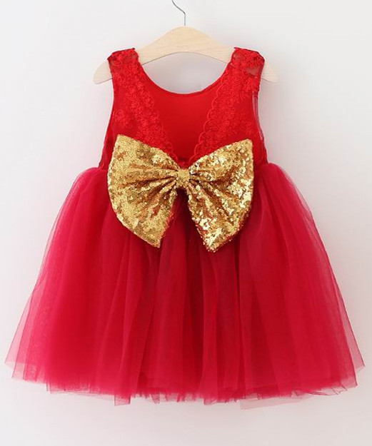 Red and yellow toddler dress