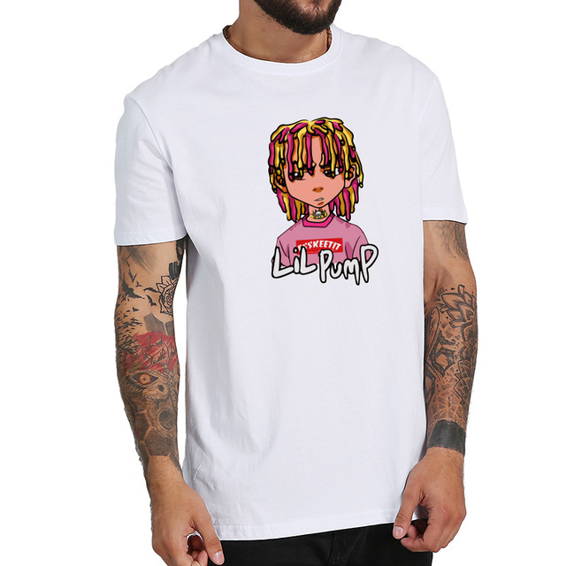Lil Pump T Shirt Hip Hop Cartoon Summer Male Style Comfortable 100% Cotton Hipster Camiseta T-shirt EU Size