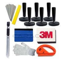Car Wrap Application Tool 3M Blue Felt Edge Decals Sticker Vinyl Squeegee 7PCS