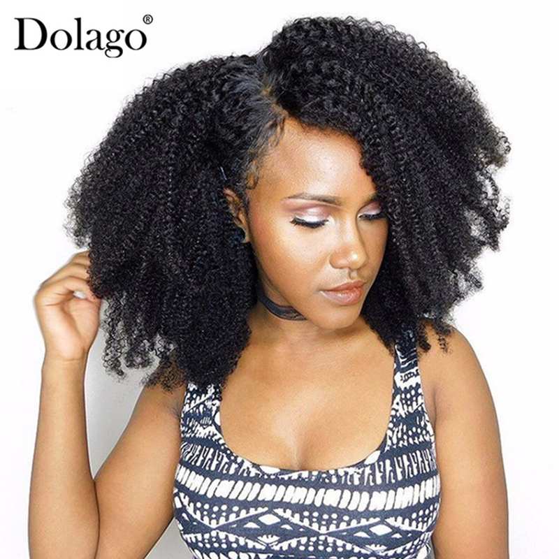 Afro Kinky Curly Clip i Human Hair Extensions 4B 4C Brazilian Human Natural Hair 3B 3C Clip Ins Dolago Remy Full Head
