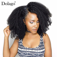 Afro Kinky Curly Clip In Human Hair Extensions 4B 4C Brazilian Human Natural Hair 3B 3C Clip Ins Dolago Remy Full Head