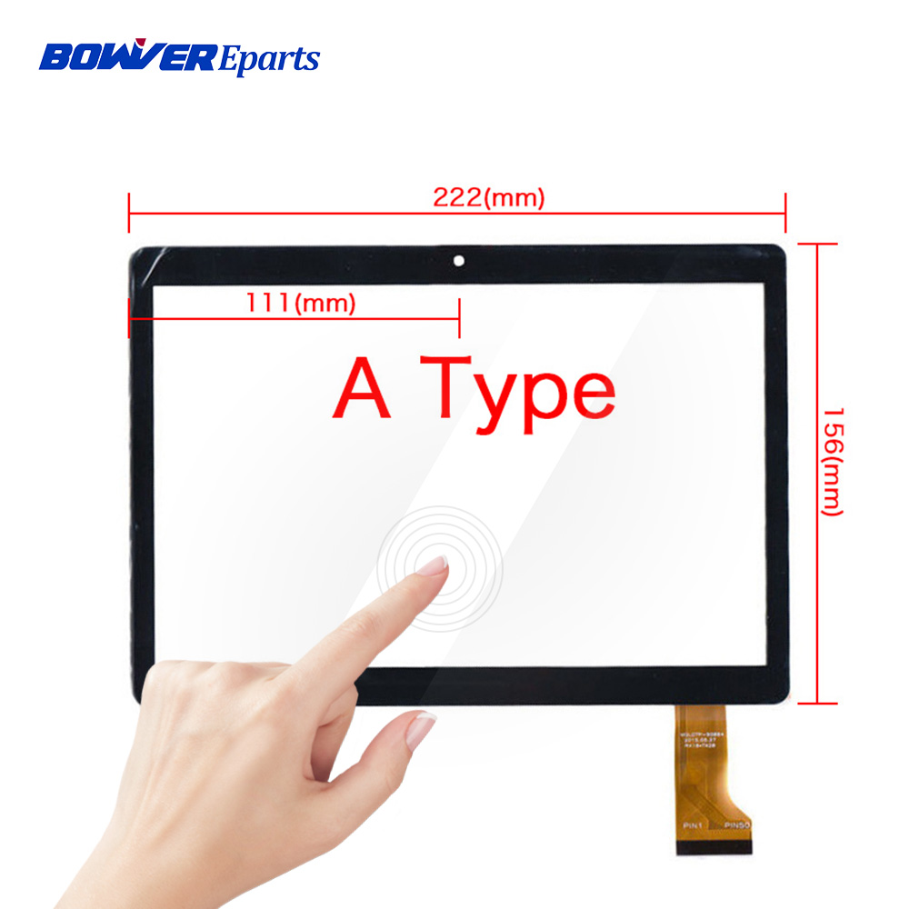 A+ Tempered Glass film or touch panel for 9.6'' Digma Plane 9505 3G ps9034mg Touch Screen Digitizer replacement 222x156mm image