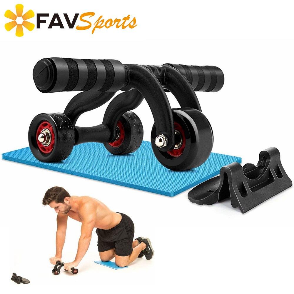 1 ensemble/3 pièces Ems formateur Fitness abdominale rouleau 3 Ab roue propre et Portable bras d'entraînement Machineadominales avec tapis de genou