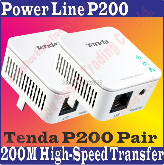 Tenda P200 Pair Power line Mini Adapter Extender 200mbps wired ...