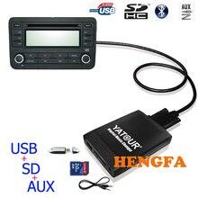 Yatour Car Digital  Music Changer USB MP3 AUX adapter  For Smart 450 Lancia lybra Fiat Bravo Marea 8-Pin grunding  yt-m06