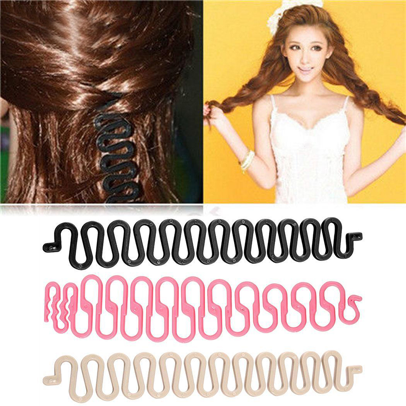 1PC Fashion Braid Hair Braid Tool Fish Bone Waves Shape Hair Design Styling Clip Hair Beauty Make Up Accessories For Women Lady