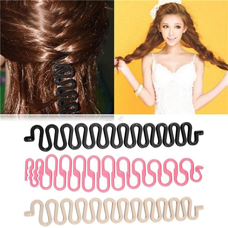 1PC Fashion Braid Hair Braid Tool Fish Bone Waves Shape Hair Design Styling Clip Hair Beauty Make Up Accessories For Women Lady