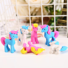Kawaii Cartoon Animal Unicorn Erasers Pencil Rubbers For Kids Students Gift for Writing Drawing Novelty Item School Stationery