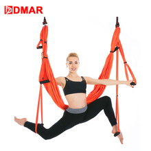 DMAR Anti-Gravity Yoga Hammock Fabric Yoga Flying Swing Aerial Traction Device Yoga Set Equipment for Pilates Body Shaping Gym 3 meters aerial yoga hammock swing latest multifunction anti gravity yoga belts for yoga training yoga for women s sporting