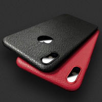 YISHANGOU Imitation Leather Striae Phone Case For iPhone X 8 Plus 7 Plus 6S 6 Plus Thin Silicone Soft TPU Shockproof Back Cover