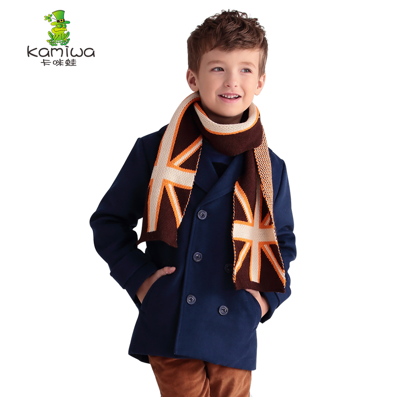 Boys Winter Coats Thick Cotton padded woollen Jackets kids ...