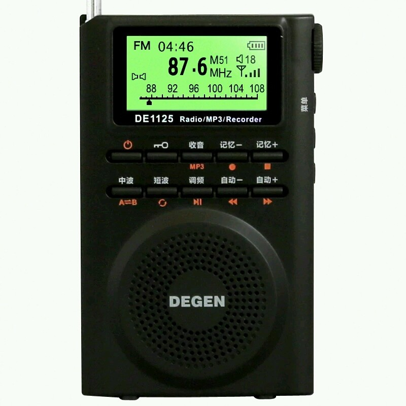 DEGEN DE1125 Radio FM AM MW SW Radio Multiband MP3 E-Book Digital Radio Receiver 4GB DE1125H degen de1127 radio digital fm stereo receiver mw sw am with 4gb mp3 player mini digital radio recorder u disk e book d2975a