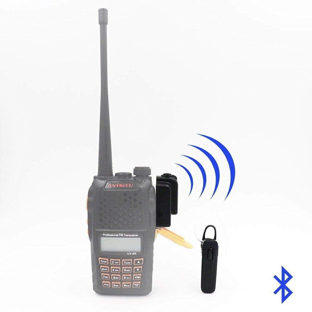 Bluetooth Sans Fil Casque Écouteur pour KENWOOD TYT HYT BAOFENG UV82 UV5R 2 Way Radio Ham Transceiver Talkie Walkie