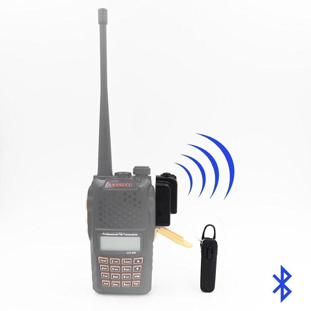 Oreillette sans fil Bluetooth pour KENWOOD TYT HYT BAOFENG UV82 UV5R 2 voies Radio jambon émetteur-récepteur talkie-walkie