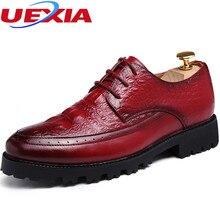Zapatos de Vestir de negocios Hombres zapatos oxford Pisos Zapatos Formales 2017 de los hombres de la Marca de charol de lujo de Novia de Encaje-up Zapato de Punta redonda