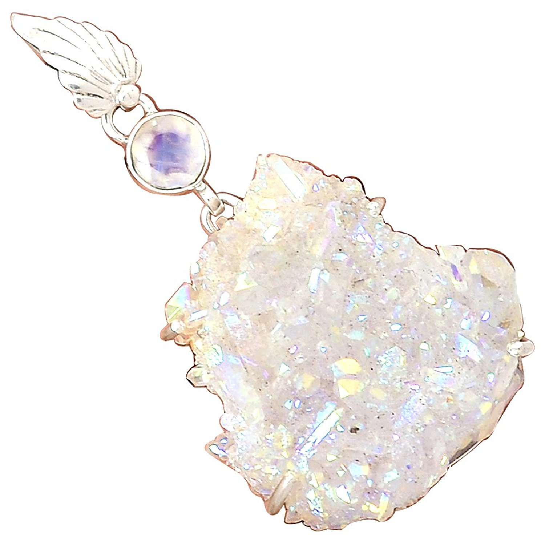 Lovegem Nature opale AURA QUARTZ pendentif 925 argent Sterling, 55.4mm, MHBAP4800Lovegem Nature opale AURA QUARTZ pendentif 925 argent Sterling, 55.4mm, MHBAP4800