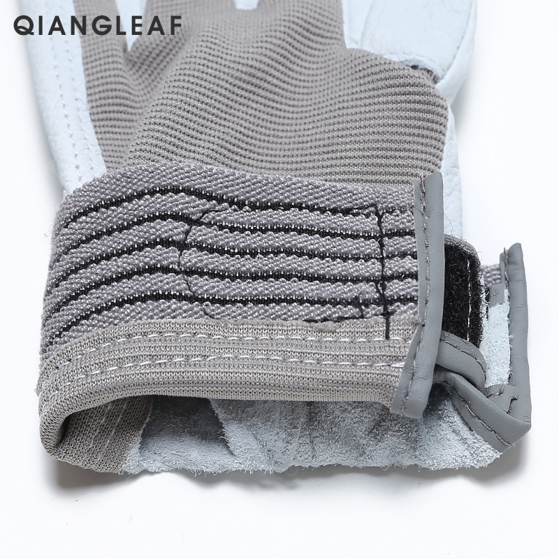 Image 4 - QIANGLEAF Brand Hot Sale D Grade Leather Glove Work Gloves Wear resistant Safety  Working Gloves Men Mitten Free Shipping 508-in Safety Gloves from Security & Protection