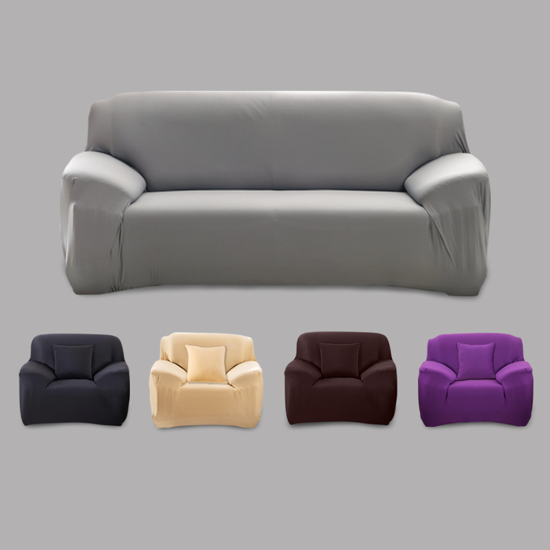 Home Solid Color Sofa Cover Big Elasticity Stretch Couch Cover Loveseat Sofa Corner Sofa Towel Furniture Cover 1/2/3/4 Seater