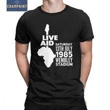 aac3727d09b43 Los hombres de Freddie Mercury en directo ayuda camisetas regalos reina  Rapsodia Bohemia única T camisa