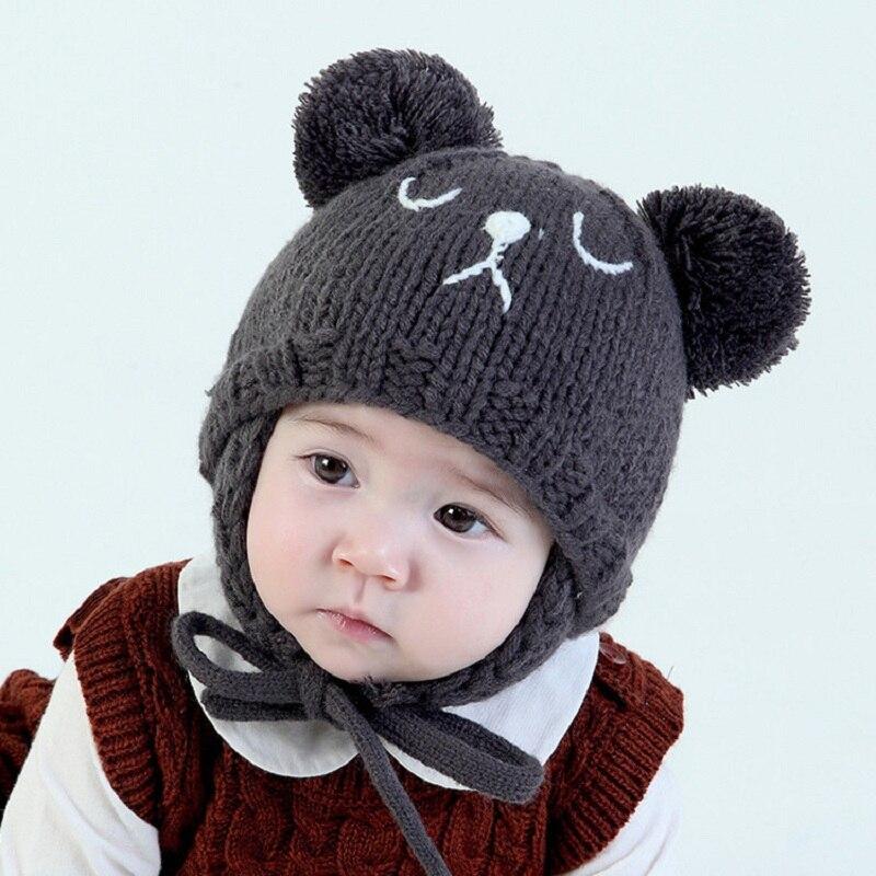 New Lovely Pattern Baby Hat Winter Toddler Bear Knit ...