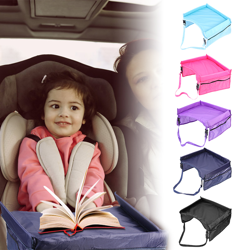 Waterproof Baby Car Table Kids Toys Infant Stroller Car Seat Tray Storage Food Desk Baby Car Tray Stroller Holder Mesa Coche
