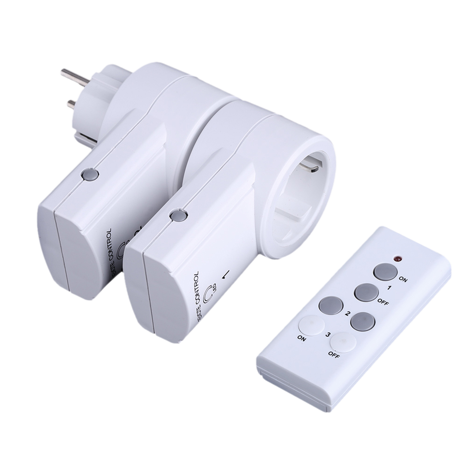 2-Pack Wireless Remote Control Switch Power RF Socket Outlet for Household Smart